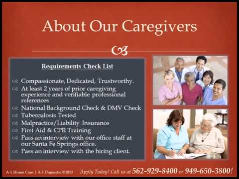 A-1 Home Care  A-1 Jobs  Employment Opportunities