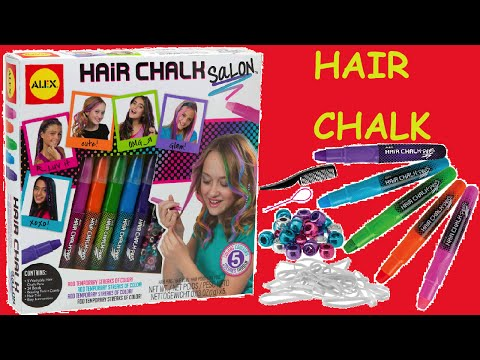 Hair Makeup for Kids -- ALEX Toys Spa Hair Chalk Salon Craft Kit Crazy!!!