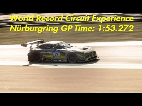 WORLD RECORD | Gran Turismo Sport | Circuit Experience on Nürburgring GP | 1 lap challenge |1:53.272