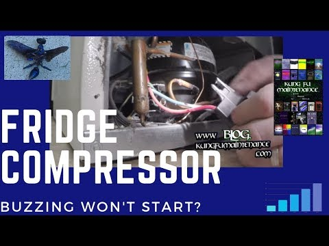 Refrigerator Compressor Buzzing Won't Start Fridge Freezer Stopped Cooling Repair Video