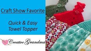 Video How To Crochet (Quick & Easy) Towel Topper! Free Pattern! MP3, 3GP, MP4, WEBM, AVI, FLV Juni 2019