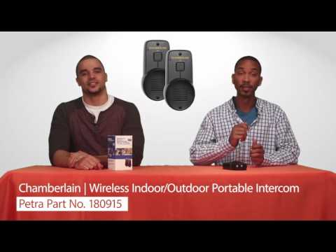 Chamberlain NTD2 Wireless Indoor/Outdoor Portable Intercom