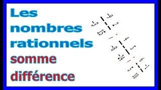 Maths 4ème - Les nombres rationnels Somme et Différence Exercice 19