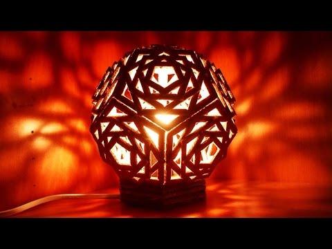 bricolage - lampada geometrica in cartone