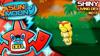 FIRST SUN AND MOON SHINY POKEMON! SHINY CATERPIE! Quest For Shiny Living Dex #010 | Pokemon Sun/Moon by aDrive