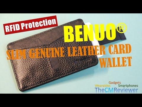 Echt Leder Kreditkartenhülle mit RFID Schutz (RFID protection)