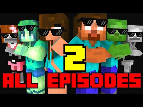 Monster School : All Episodes ! ( Season 4-7  ) - full Minecraft Animation