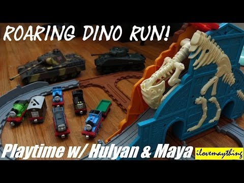 Thomas Take N Play: Roaring Dino Run Playset Playtime w/ Hulyan & Maya