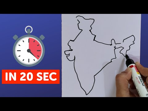 Draw Map Of India on
