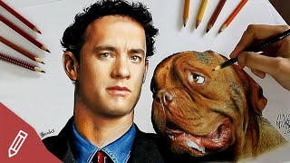 SPEED DRAWING: Tom Hanks (Movie: Turner & Hooch) REALISTIC PENCIL PORTRAIT | Time Lapse
