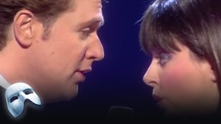 Michael Crawford and Sarah Brightman perform 'All I ask of You' at The Royal Albert Hall Celebration for Andrew Lloyd Webber. Presenting The Phantom of the O...