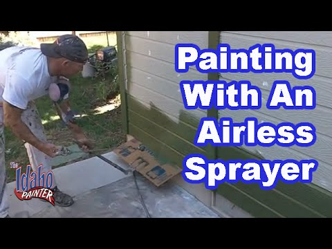 airless spray - How to spray cottage lap siding with and airless sprayer. A good method spraying to give good coverage, eliminate flashing, and to help eliminate holidays. B...