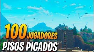 100 jugadores en PISOS PICADOS! FORTNITE: Battle Royale (Partidas Privadas)