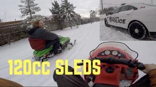 10. Mini Snowmobiles, Cops and Coffee (polaris xc120 and Arctic cat 120z)
