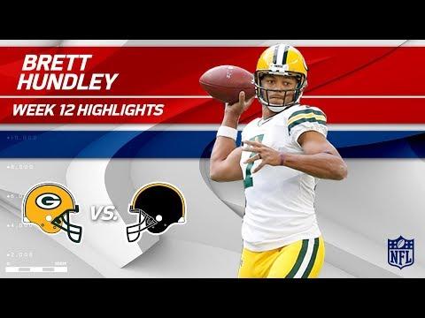 Video: Brett Hundley's Huge Game w/ 3 TDs & 245 Yards!   Packers vs. Steelers   Wk 12 Player HLs