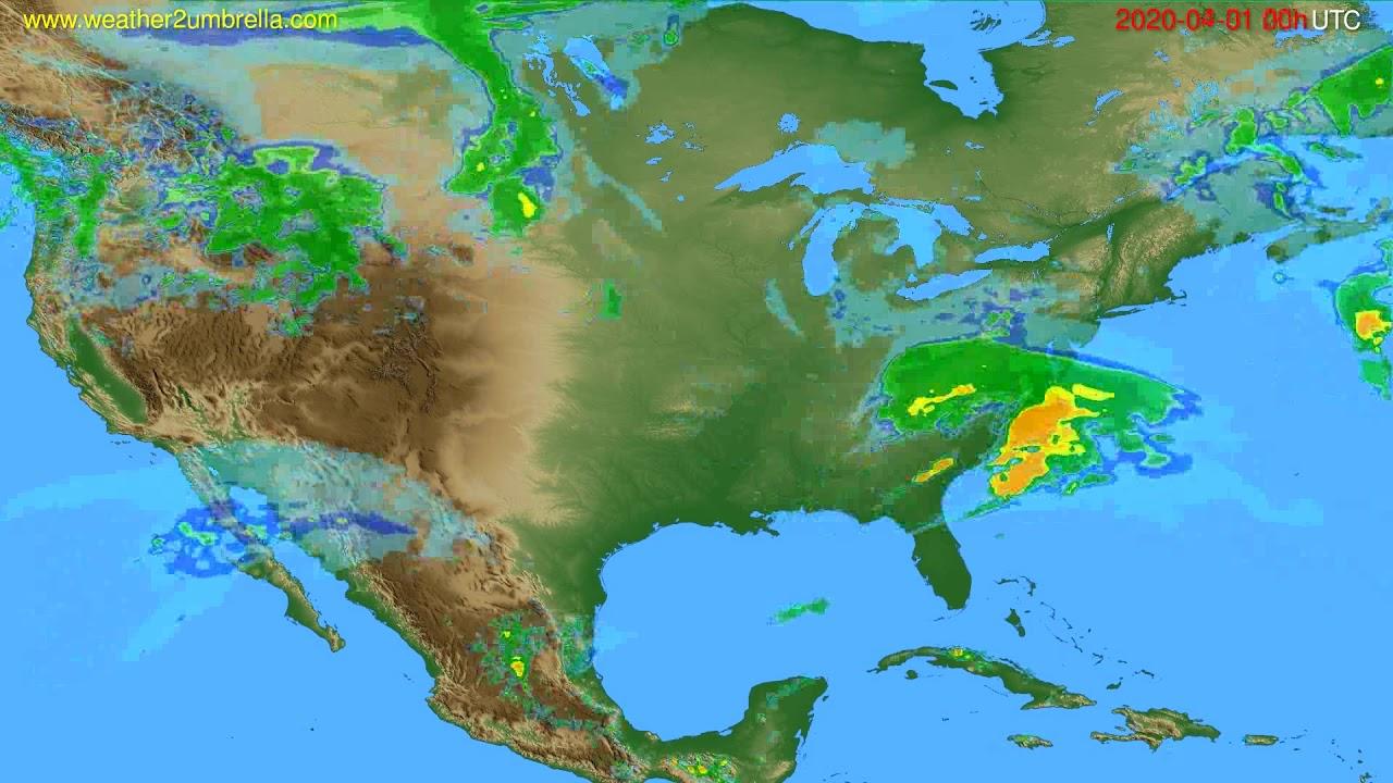 Radar forecast USA & Canada // modelrun: 12h UTC 2020-03-31