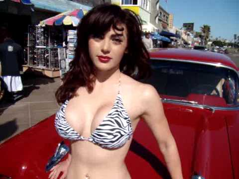 Swimsuit Bikini Model Pin Up Model Angie Mission Beach | Video 1  Pin Up Girl