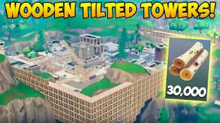 Rebuilding Tilted Towers with 30,000 WOOD! - Fortnite Funny Fails and WTF Moments! #240 (Daily)
