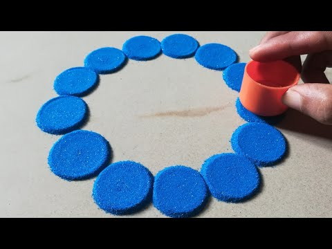 Top 2 very easy and attractive multicolored muggulu for festivals | Rangoli by Sangeeta |