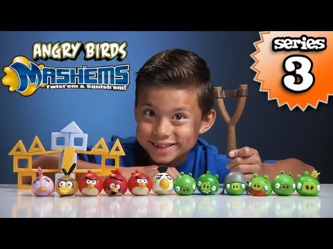 Angry Birds MASH'EMS Series 3 – Orange Bird Mash'Em & Pink Bird Mash'Em