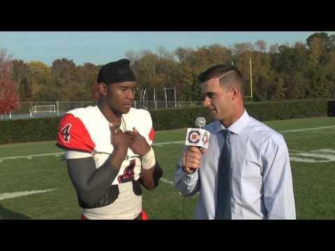 C-N Football: De'Andre Thomas post-Wingate 10-24-15