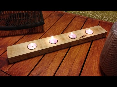Portavelas de madera for Bricolaje en madera gratis