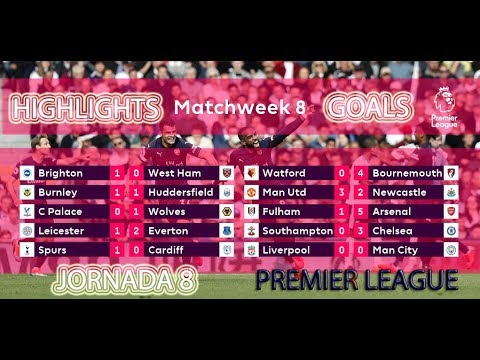 Todos los Goles | Jornada 8 | All Goals & Highlights | Premier League | Matchday 8 | HD