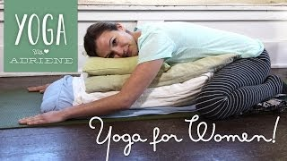 Yoga for Women - Yoga For Cramps and PMS - YouTube