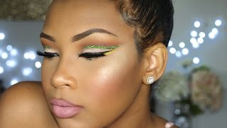 Green Glitter Cut Crease | AALIYAHJAY by Ms Aaliyah Jay