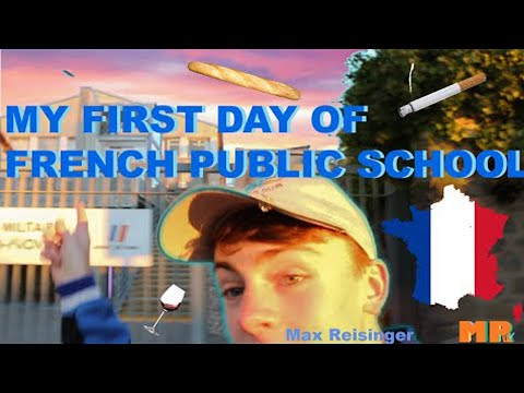 My FIRST DAY of French Public School