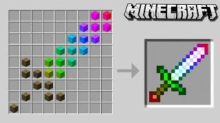 Craft a SECRET RAINBOW SWORD in Minecraft!