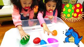 ●普段遊び●パパの恐竜の卵割って遊んだよ☆まーちゃん【6歳】おーちゃん【4歳】#596