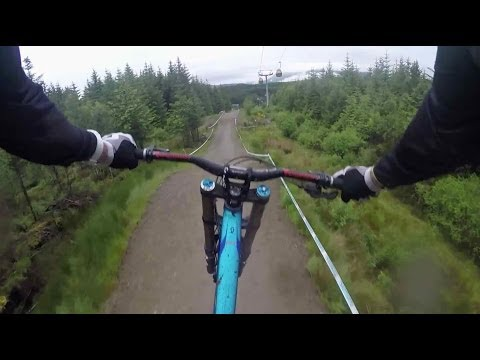 Downhill MTB GoPro footage through Scottish Highlands (видео)