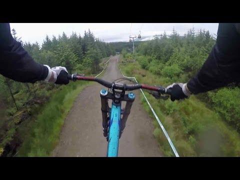 Downhill MTB GoPro footage through Scottish Highlands (видео)