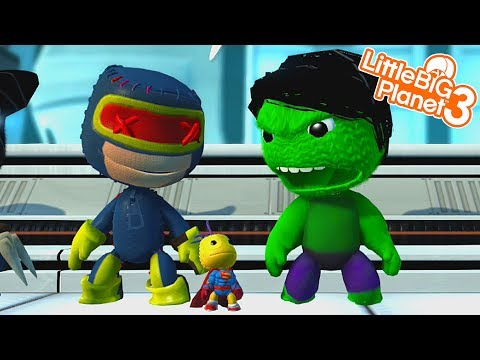 SACKBOY IS A SUPERHERO! | LittleBIGPlanet 3 Gameplay (Playstation 4)