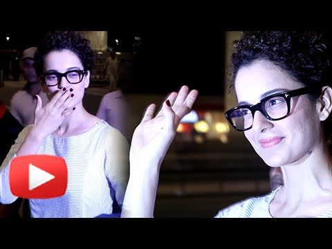 Kangana Ranaut Walks Out In Style | Mumbai Airport