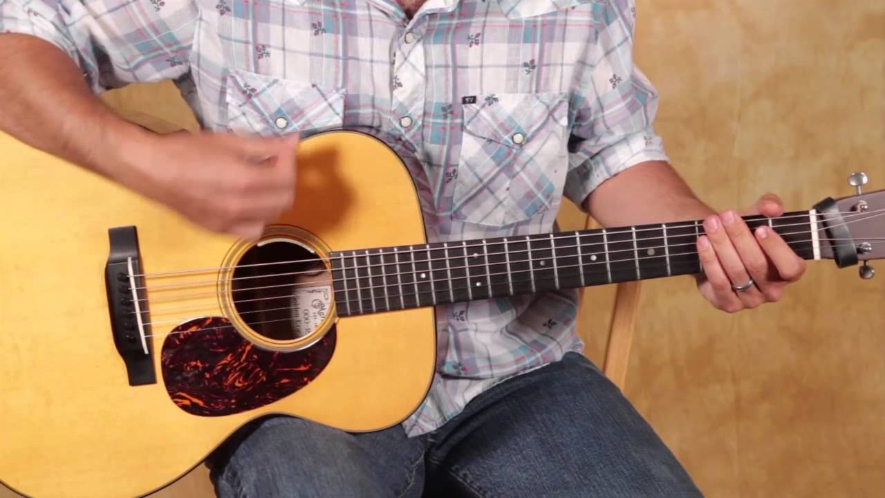 Easy Beginner Guitar Lesson on Acoustic Guitar – Strum Patterns for Beginners – Rhythm