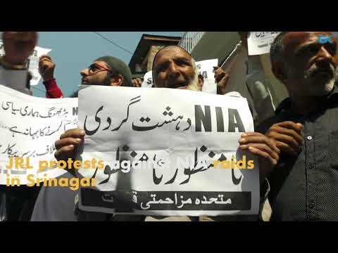 JRL protests against NIA raids in Srinagar