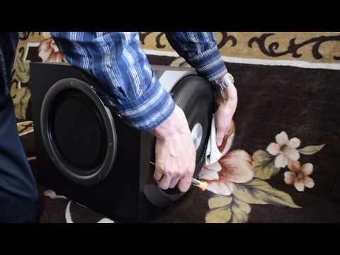 edifier s730 съем защитной решетки с динамика и вскрытие корпуса (видео)