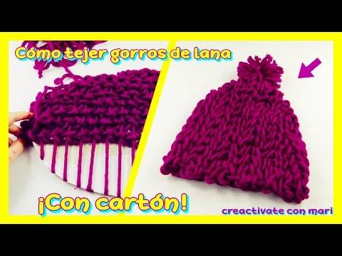Cómo tejer gorros de lana en telar de cartón casero