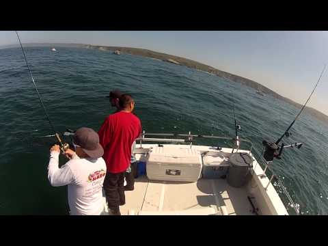 North Cal Sportfishing - Trolling for King Salmon, fishing out of Bodega Bay,California 4/22/2013 . Breaking in the new boat the right way!