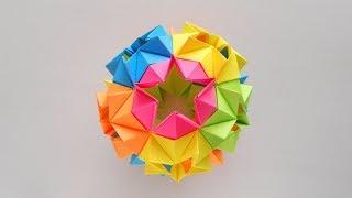 Кусудама шар из бумаги Star Kusudama by MasikBon Origami