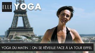 """Suivez ce cours de Yoga du matin de Valentina de Pietri  pour un réveil en douceur face à la tour Eiffel depuis le rooftop de la Maison-Blanche. Abonnez-vous à la chaîne ELLE : http://bit.ly/YouTubeELLERetrouvez ELLE, le magazine féminin de la mode, de la beauté et de toute l'actualité des femmes sur : Elle.fr : http://www.elle.frElle Vidéo : http://videos.elle.frFacebook : https://www.facebook.com/elleTwitter : https://twitter.com/ELLEfrancePinterest : http://www.pinterest.com/magazineellefr/------------------------Remerciements:Valentina De Pietrihttps://www.instagram.com/sunie_yoga_paris/Maison Blanchehttp://www.maison-blanche.fr/fr/Vidéo Yoga du matin : On se réveille face à la tour Eiffel  ELLE YogaProduction : LEDCopyright : ©ELLE 2016"""""""