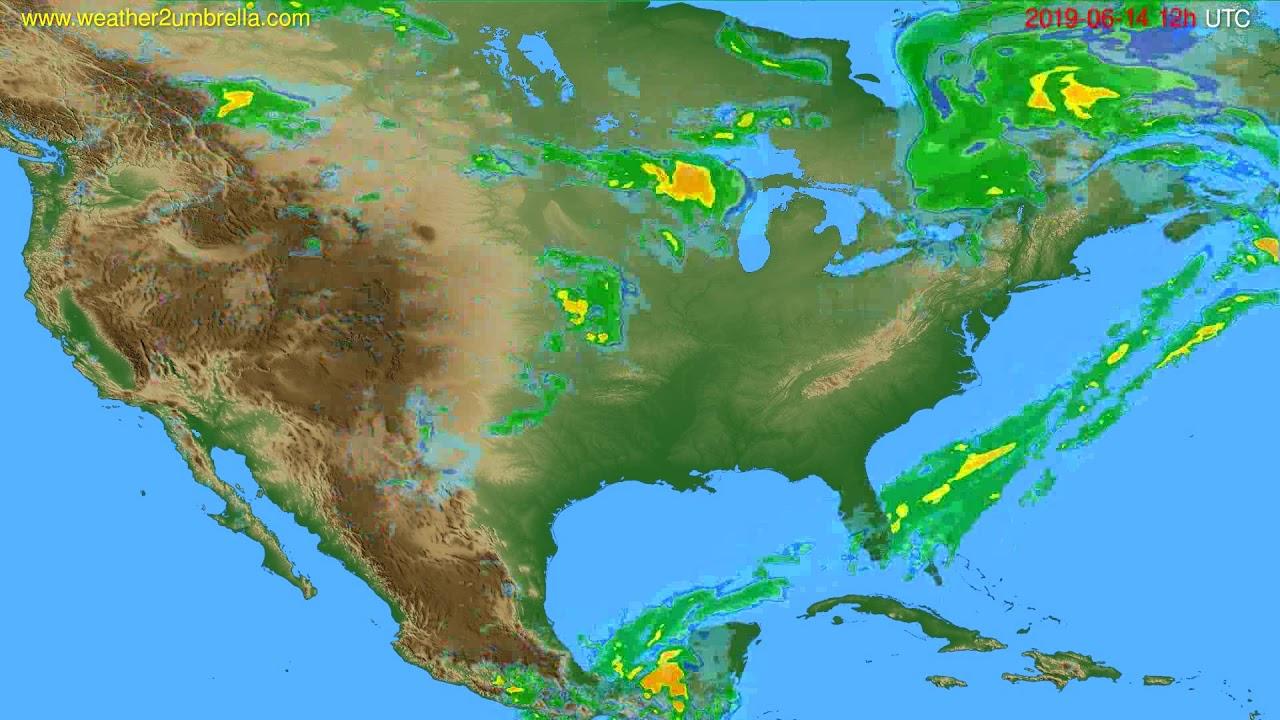 Radar forecast USA & Canada // modelrun: 00h UTC 2019-06-14