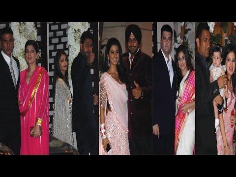 Aishwarya Rai, Akshay Kumar, Vidya Balan & Others At Harbhajan Singh Wedding Party