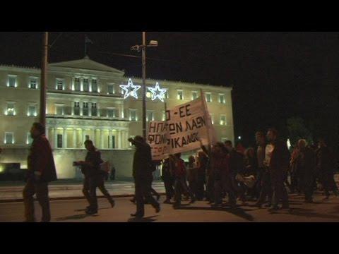 Διαμαρτυρία στα Προπύλαια, ενάντια στην επίσκεψη Κέρι στην Ελλάδα