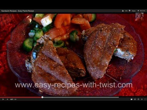 Sandwich Recipes – Easy Panini Recipe