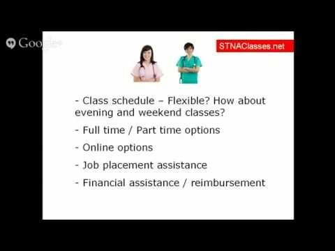 STNA Classes   STNA Training   STNA Programs