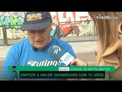 Juanjo un skater con 76 años