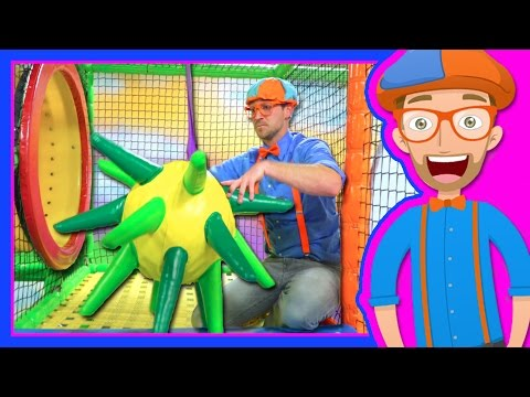 Learn Colors with Blippi at the Indoor Playground | 1 Hour (видео)